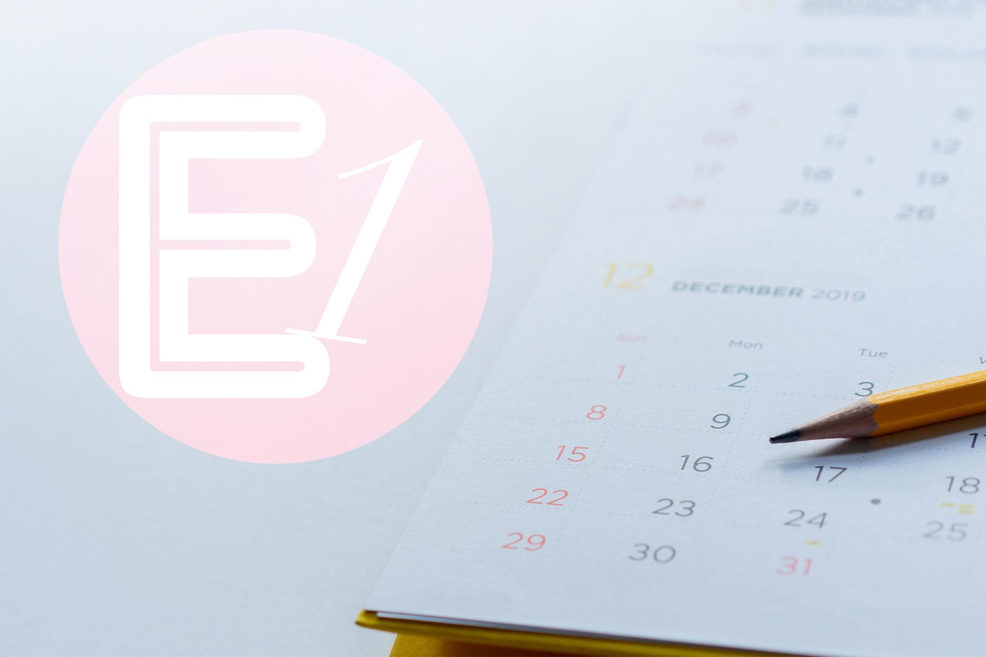 Kalender und Logo E1